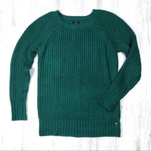 AE Jegging Sweater M Soft Chunky Knit Emerald